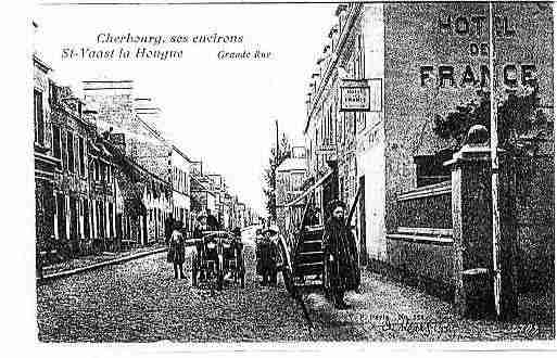 Ville de SAINTVAASTLAHOUGUE Carte postale ancienne