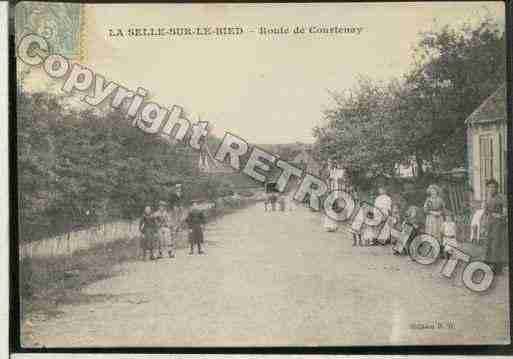 Ville de SELLESURLEBIED(LA) Carte postale ancienne