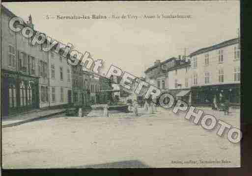 Ville de SERMAIZELESBAINS Carte postale ancienne