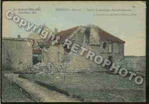 Ville de BETHENY Carte postale ancienne