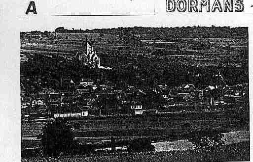 Ville de DORMANS Carte postale ancienne