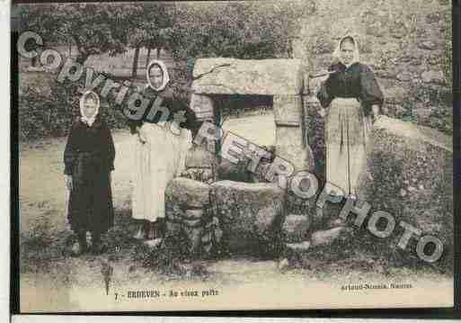 Ville de Erdeven, PH041749 A. Cliché imprimé d'une carte ancienne
