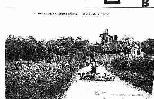 Ville de GERMAINE Carte postale ancienne
