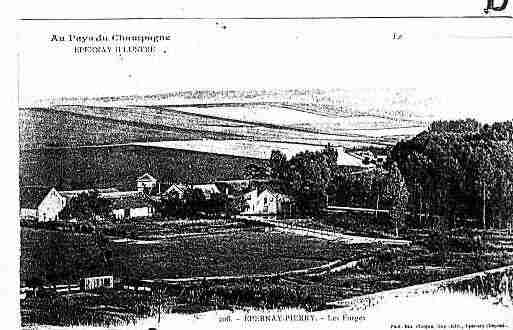 Ville de PIERRY Carte postale ancienne