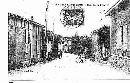 Ville de SAINTAMANDSURFION Carte postale ancienne