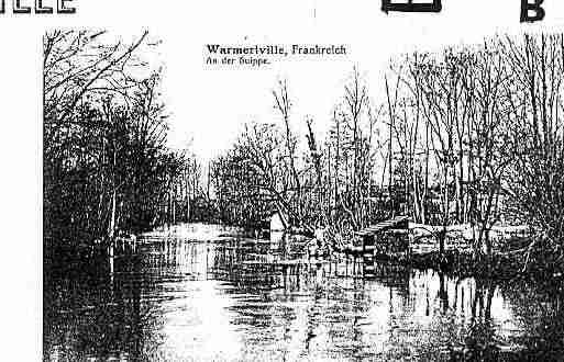 Ville de WARMERIVILLE Carte postale ancienne