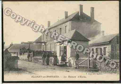 Ville de ALLIGNYENMORVAN Carte postale ancienne