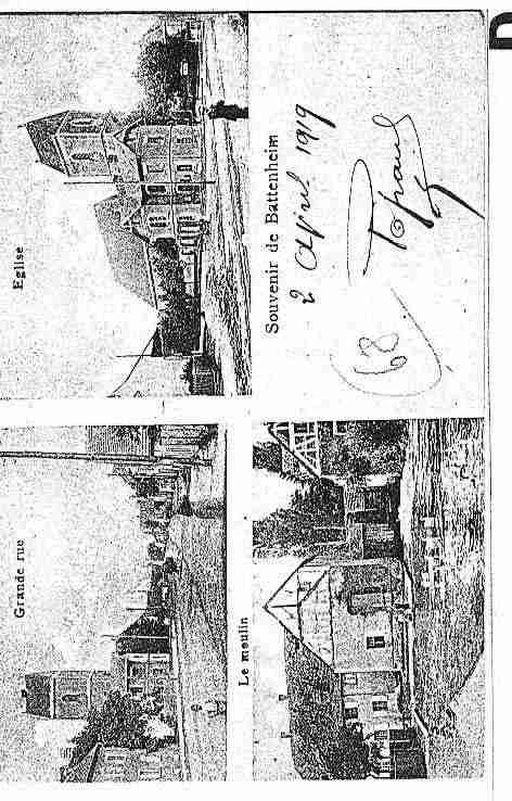 Ville de BATTENHEIM Carte postale ancienne