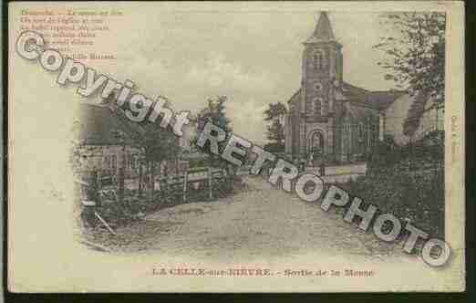 Ville de CELLESURNIEVRE(LA) Carte postale ancienne