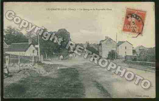 Ville de CHATELLIER(LE) Carte postale ancienne