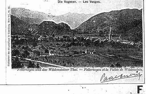 Ville de FELLERING Carte postale ancienne