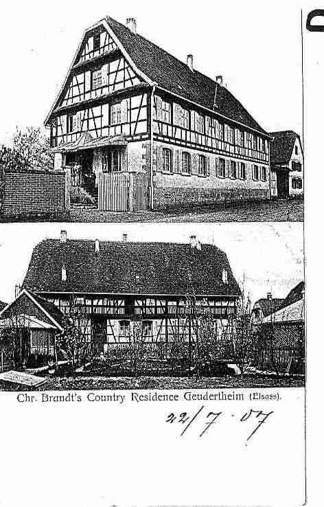 Ville de GEUDERTHEIM Carte postale ancienne
