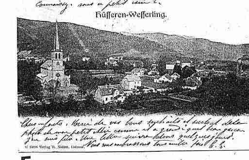Ville de HUSSERENWESSERLING Carte postale ancienne