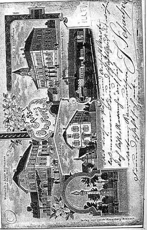 Ville de ILLFURTH Carte postale ancienne