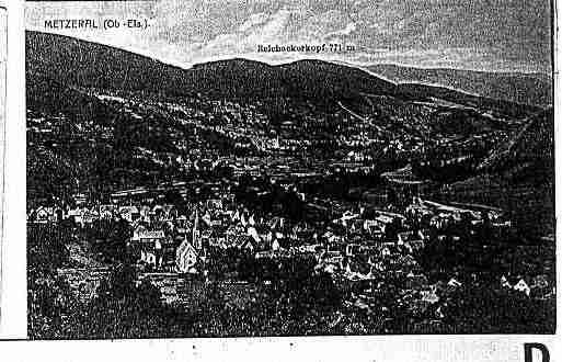 Ville de METZERAL Carte postale ancienne