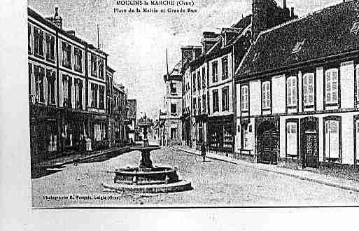 Ville de MOULINSLAMARCHE Carte postale ancienne
