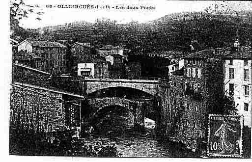 Ville de OLLIERGUES Carte postale ancienne