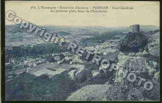 Ville de PERRIER Carte postale ancienne