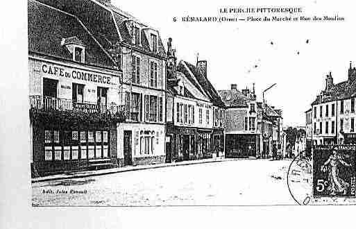 Ville de REMALARD Carte postale ancienne
