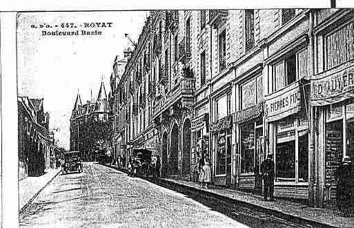 Ville de ROYAT Carte postale ancienne
