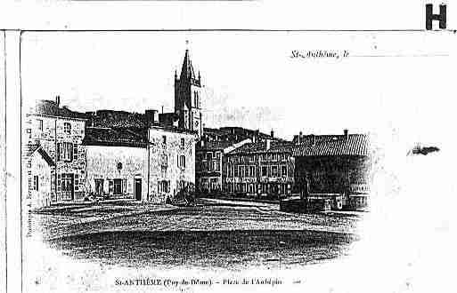Ville de SAINTANTHEME Carte postale ancienne