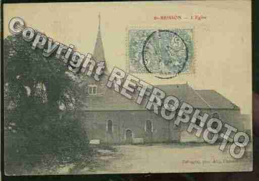 Ville de SAINTBRISSON Carte postale ancienne