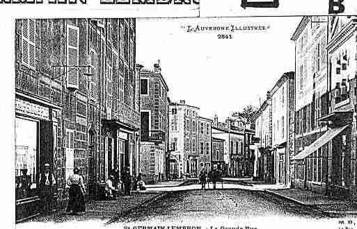 Ville de SAINTGERMAINLEMBRON Carte postale ancienne