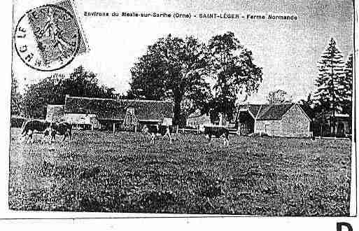 Ville de SAINTLEGERSURSARTHE Carte postale ancienne