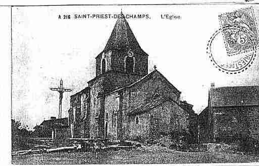 Ville de SAINTPRIESTDESCHAMPS Carte postale ancienne