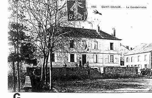Ville de SAINTSAULGE Carte postale ancienne