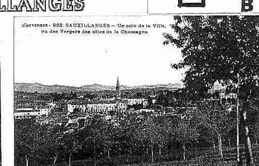 Ville de SAUXILLANGES Carte postale ancienne