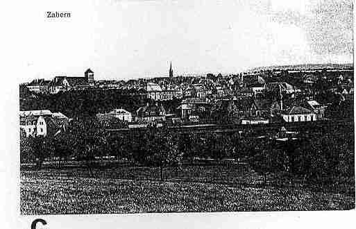 Ville de SAVERNE Carte postale ancienne