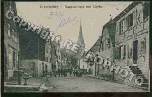 Ville de SCHERWILLER Carte postale ancienne