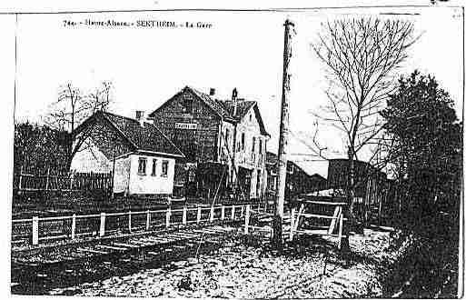 Ville de SENTHEIM Carte postale ancienne