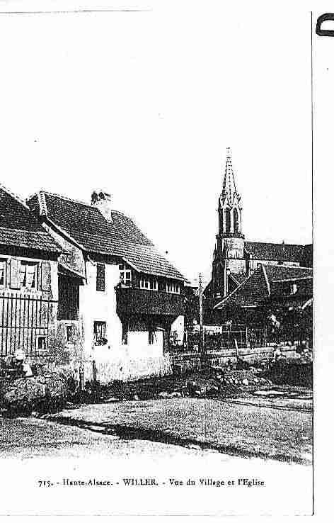 Ville de WILLER Carte postale ancienne
