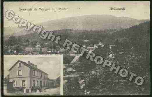 Ville de WINGENSURMODER Carte postale ancienne