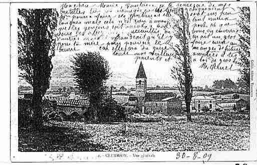 Ville de CLERMAIN Carte postale ancienne
