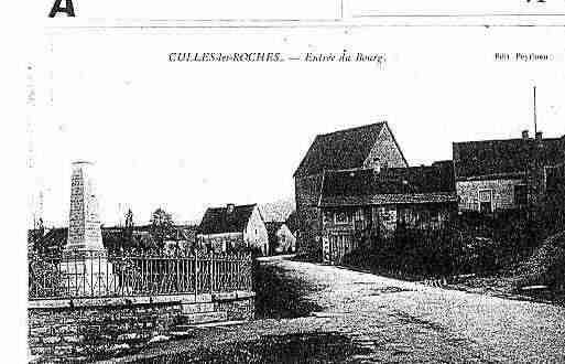 Ville de CULLESLESROCHES Carte postale ancienne