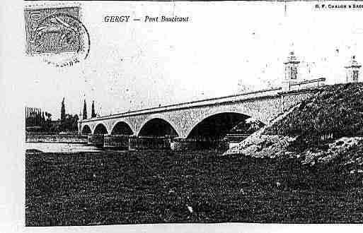 Ville de GERGY Carte postale ancienne