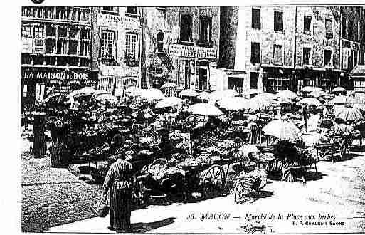 Ville de MACON Carte postale ancienne