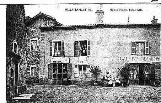 Ville de MILLYLAMARTINE Carte postale ancienne