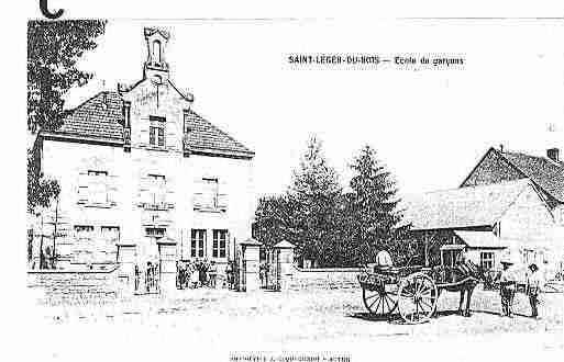 Ville de SAINTLEGERDUBOIS Carte postale ancienne