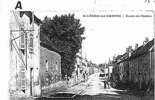 Ville de SAINTLEGERSURDHEUNE Carte postale ancienne