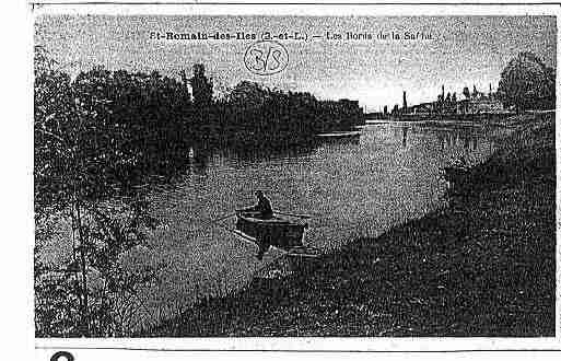 Ville de SAINTROMAINDESILES Carte postale ancienne