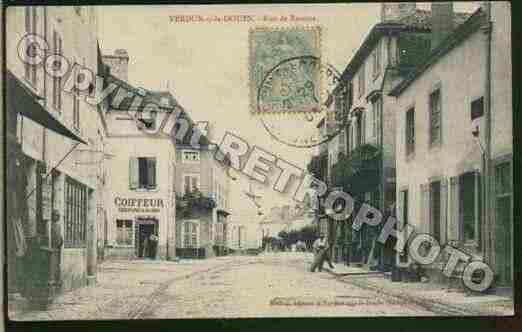 Ville de VERDUNSURLEDOUBS Carte postale ancienne