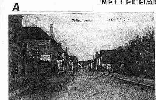 Ville de BELLECHAUME Carte postale ancienne