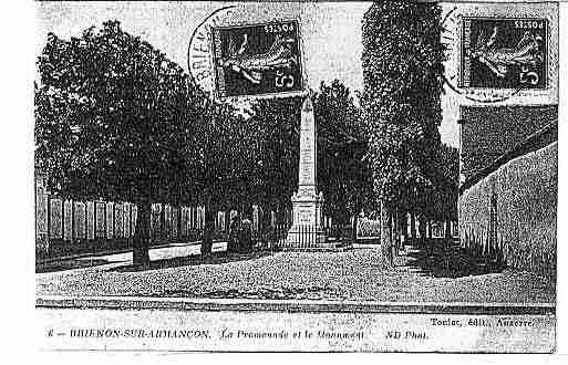 Ville de BRIENONSURARMANCON Carte postale ancienne