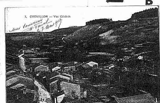 Ville de CHEVILLON Carte postale ancienne