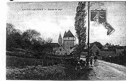 Ville de CHITRY Carte postale ancienne