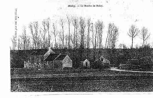 Ville de MOLAY Carte postale ancienne